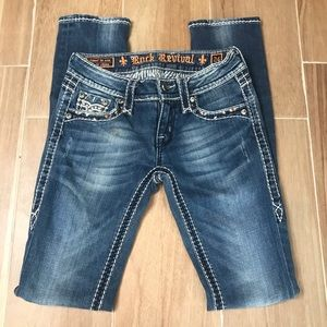 Rock Revival Jeans Skinny 24 Ankle Straight Denim